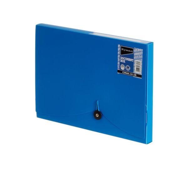 Ryman Document Box 25mm Blue