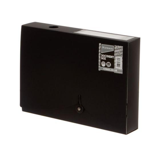 Ryman Document Box 60mm Black