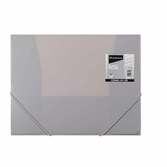 Ryman Pastel Elasti Folder A4 Dove Grey