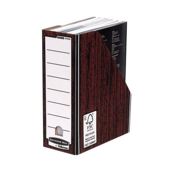 Bankers Box by Fellowes Premium Magazine Files with Fastfold