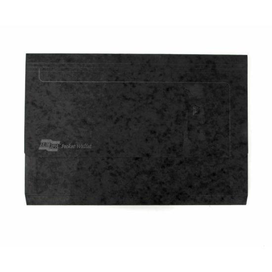 Europa Pocket Wallets Foolscap Pack of 25 Black