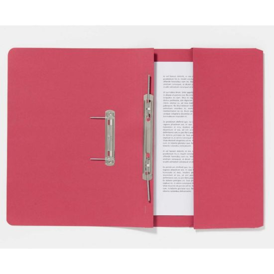 Guildhall Pocket Spiral Foolscap File 285gsm Pack of 25 Red