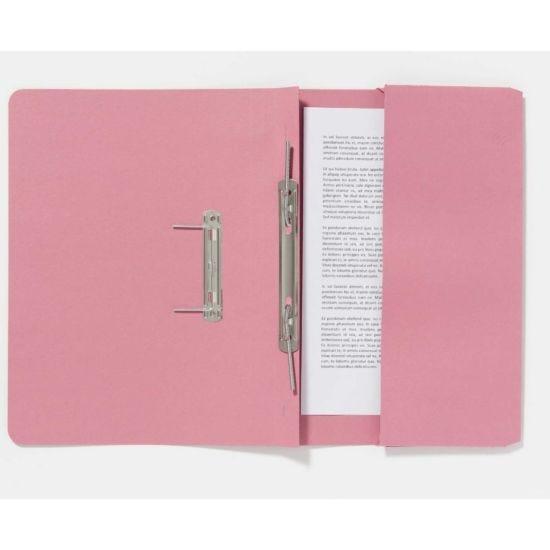 Guildhall Pocket Spiral Foolscap File 285gsm Pack of 25 Pink