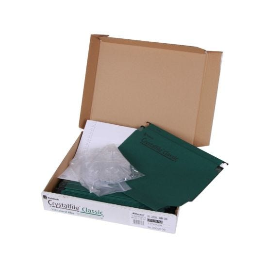 Crystalfile 330 Lateral File 30mm/ 300 Sheets  Pack of 25