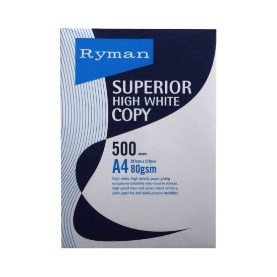 Ryman Superior Copy Paper A4 80gsm 500 Sheets