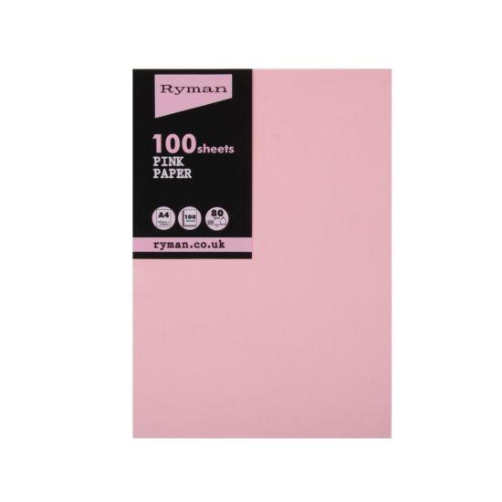 Ryman Adagio Copier Paper A4 80gsm Pack of 100 Pink