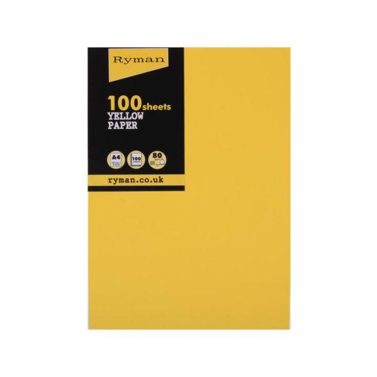 Ryman Adagio Copier Paper A4 80gsm Pack of 100 Yellow