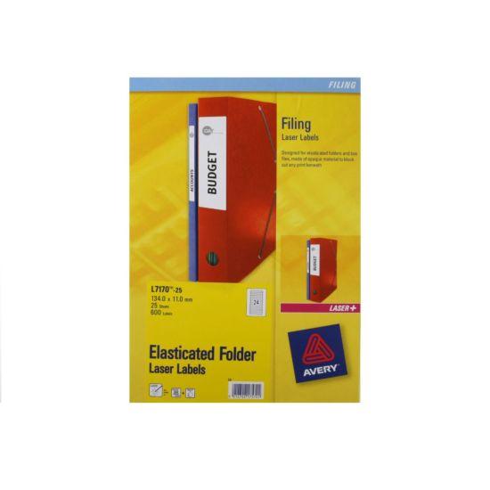 Avery Laser Labels 11x134mm 24 Per Sheet 25 Sheets
