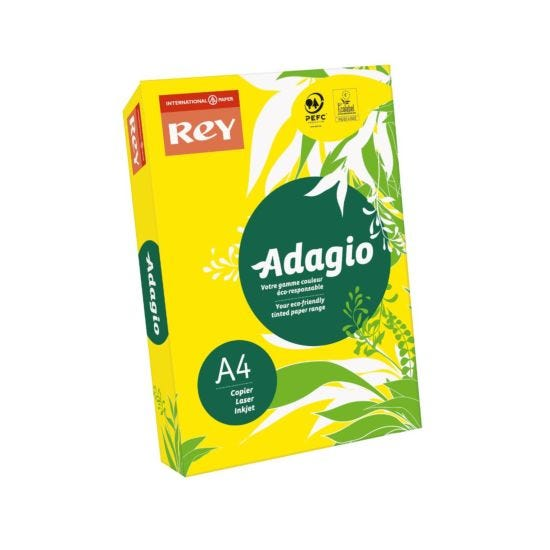 Adagio Colour Selection Card A4 160gsm 250 Sheets Yellow