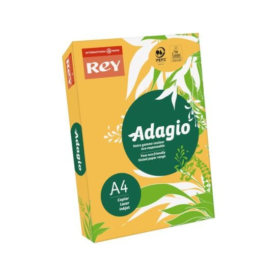 Adagio Colour Selection Card A4 160gsm 250 Sheets Gold