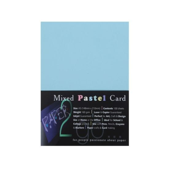 Paper2go Rainbow Card Pastel A5 160gsm Pack 100