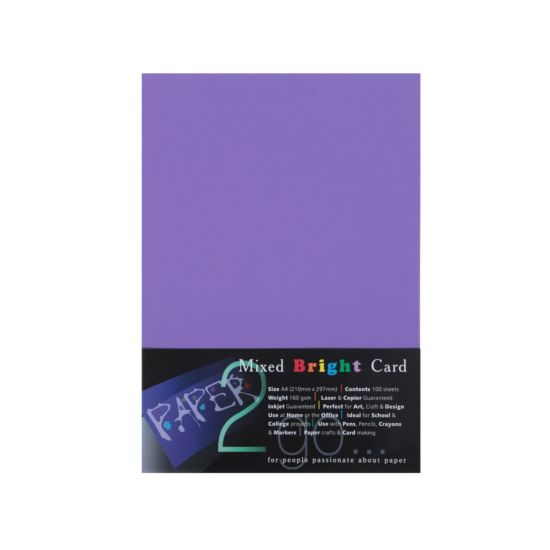 Paper2go Rainbow Card Brights A4 160gsm Pack 100