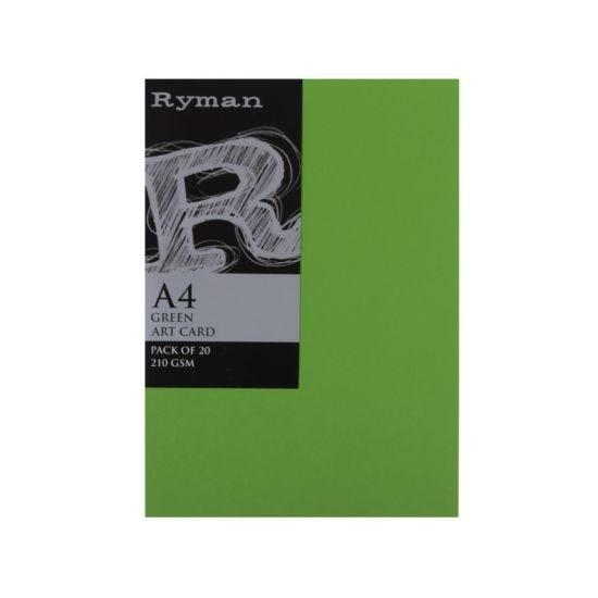 Ryman Artcard A4 210gsm Pack of 20 Green