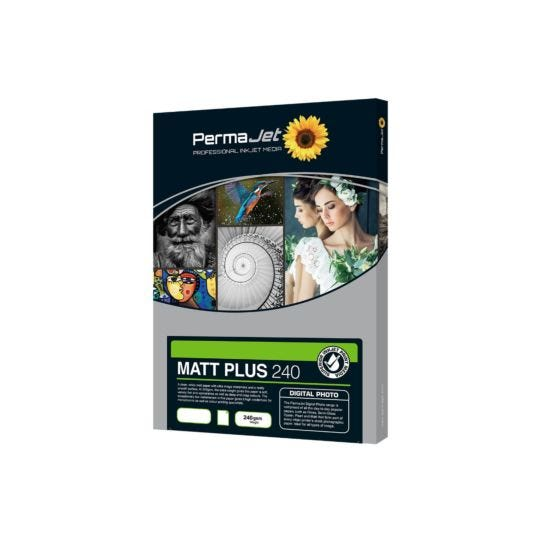 PermaJet Matt Plus 240 Paper 6 x 4 Inch 100 Sheets