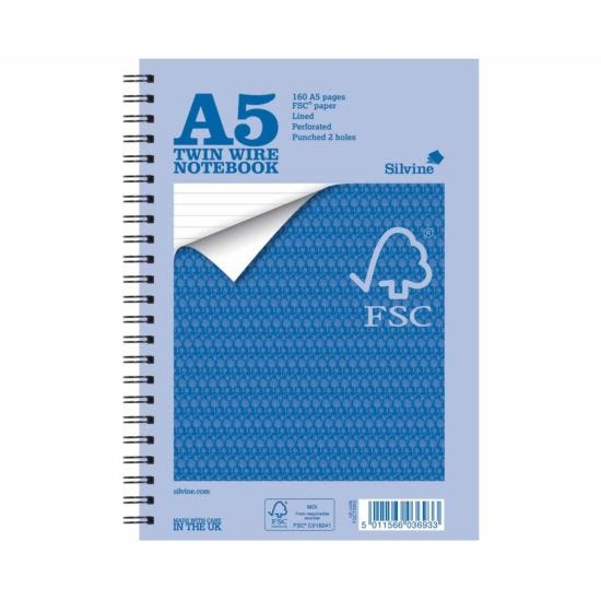 Silvine Everyday Notebook A5 Pack of 5