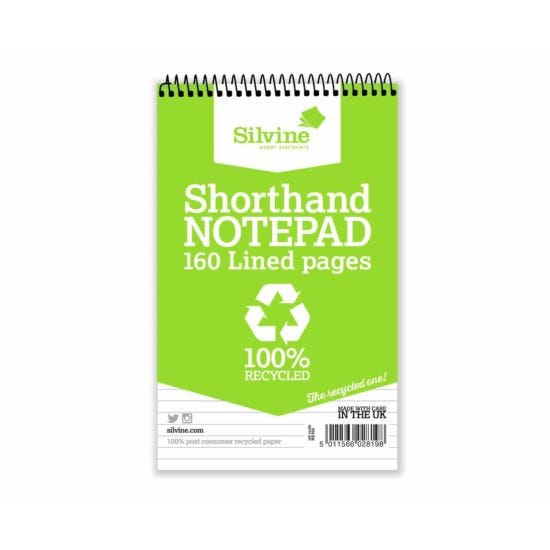 Everyday 100% Recycled Reporter 5x8 160 Pages Pack of 12