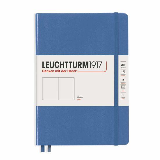 Leuchtturm1917 Hard Cover Notebook Plain A5 Denim