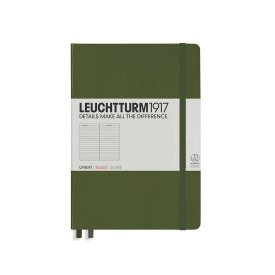 Leuchtturm 1917 Notebook Ruled A5 Army Green