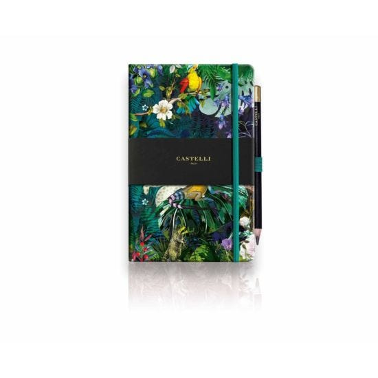 Castelli Eden Lily Ruled Notebook A5