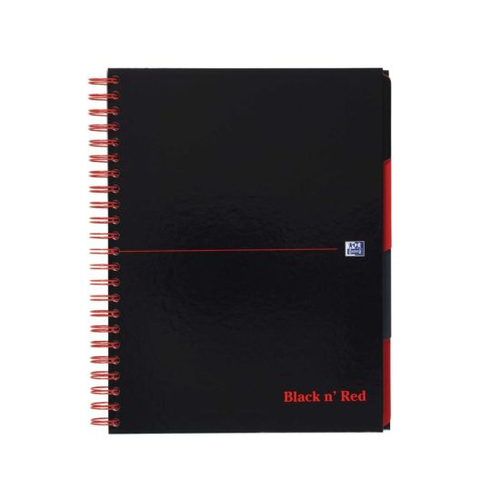 Black n Red A4 Project Book 200 Pages 100 Sheets