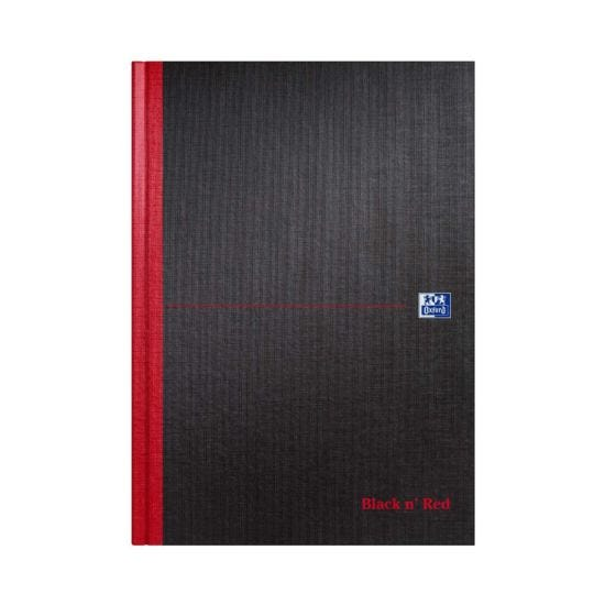 Oxford Black n Red A4 Notebook 192 Pages Casebound Hardback Ruled