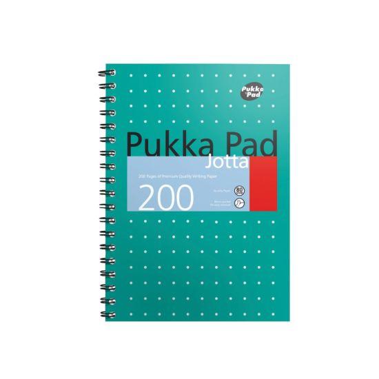 Pukka Metallic Pad B5 80gsm 200 Pages 100 Sheets Pack of 3