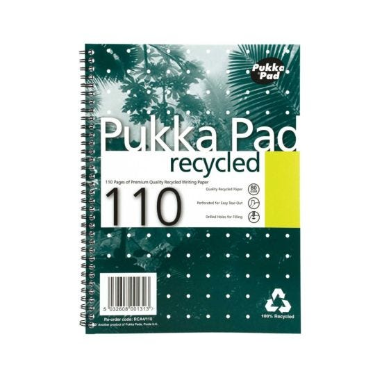 Pukka Recycled Pad A4 Pack of 3