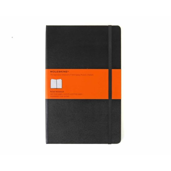 Moleskine Classic Hard Cover Notebook Large Ruled 240 Pages 120 Sheets