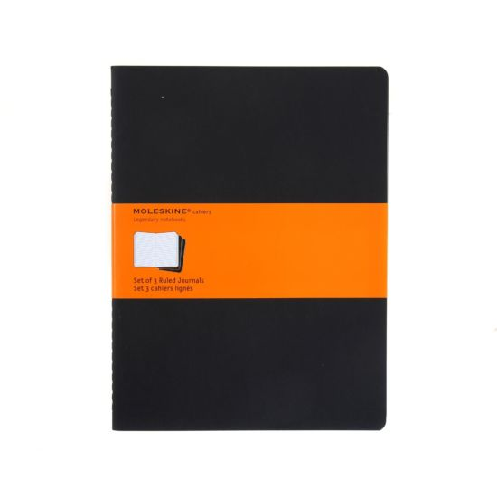 Moleskine Cahier Ruled Notebook Extra Large Pack of 3 Soft Cover Black