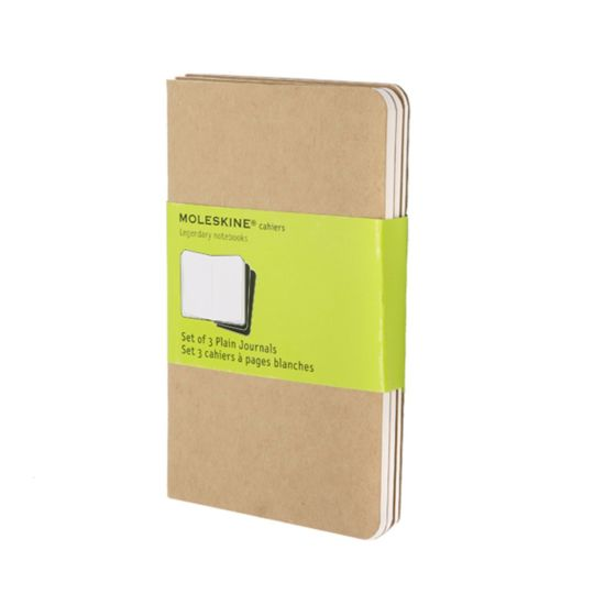 Moleskine Cahier Pocket Plain Journals Pack of 3 Kraft