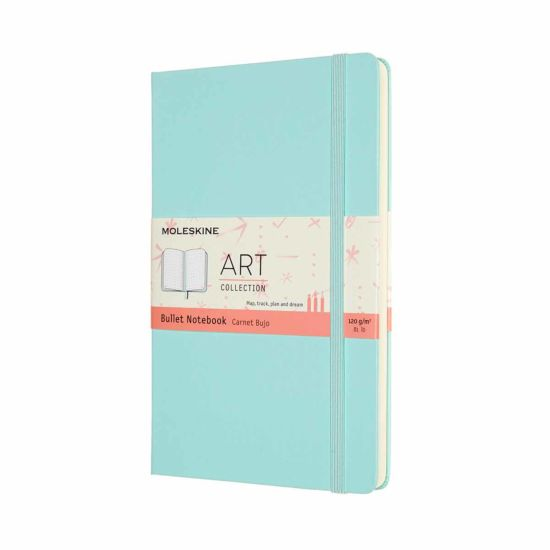 Moleskine Art Bullet Hardcover Notebook Large Aquamarine