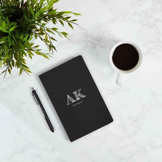 Ryman Personalised Medium Soft Cover Notebook Initials and Name