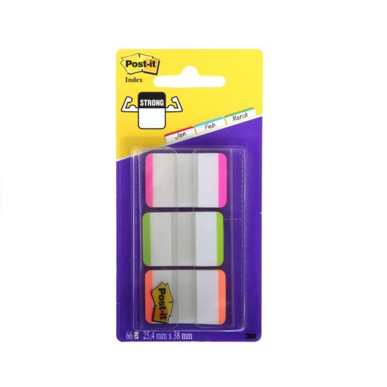 Post-It Strong Index Filing Tabs 25.4x38mm Pack of 66
