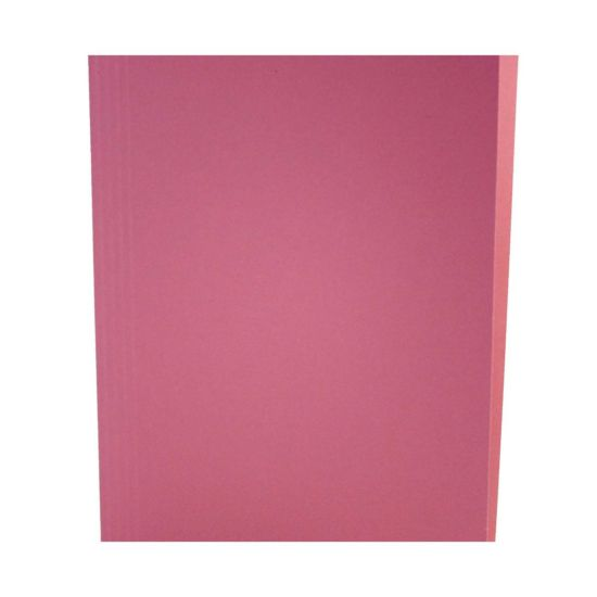 Square Cut Folders Foolscap Pack of 100 Pink