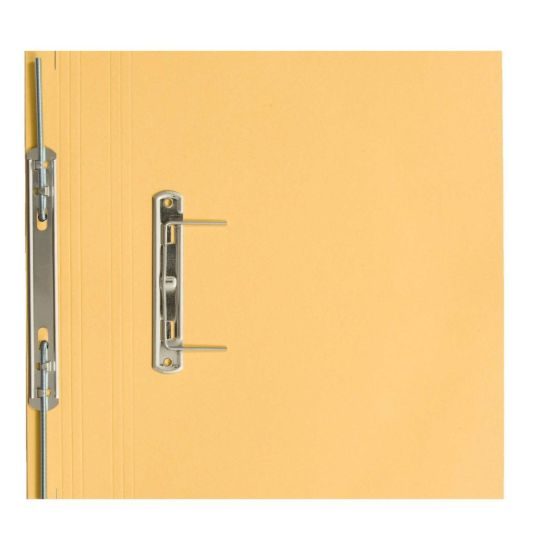 Transfer Spiral File Foolscap Pack of 50 Yellow