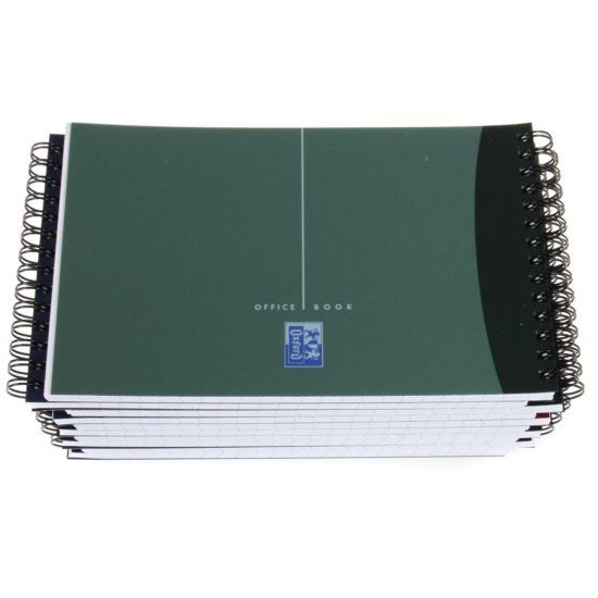 Metallic Wirebound Ruled Poly Cover Notebook plus Ruler Pack of 10