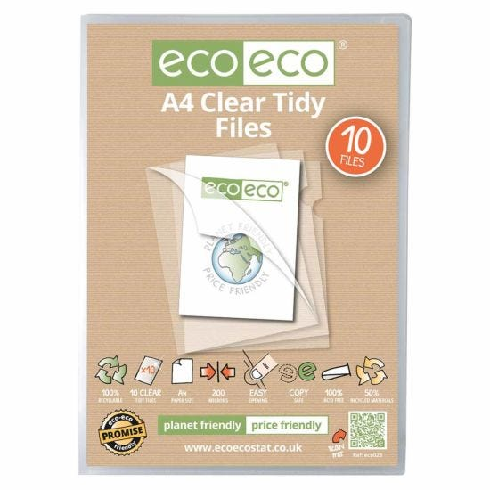 eco eco Tidy Files A4 Pack of 10