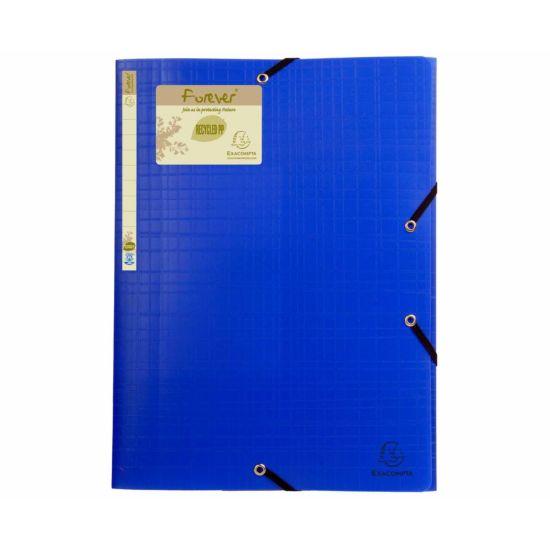 Exacompta Forever Elastic 3 Flap Folder A4 Pack of 15 Blue