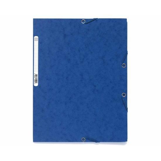 Exacompta Europa Elastic 3 Flap Folder A4 Pack of 25 Blue