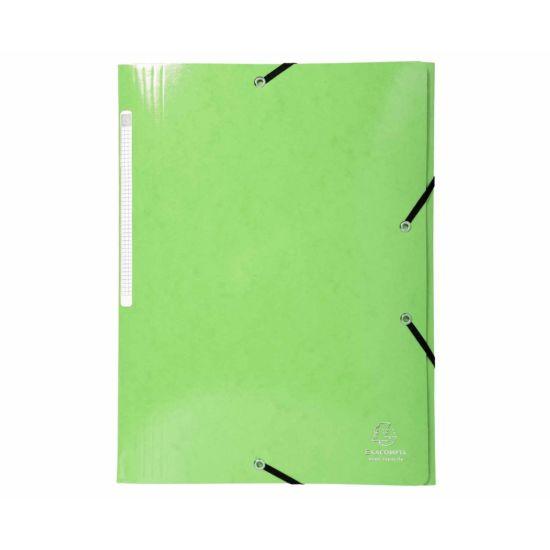Exacompta Iderama Elastic 3 Flap Folder A4 Pack of 25 Green