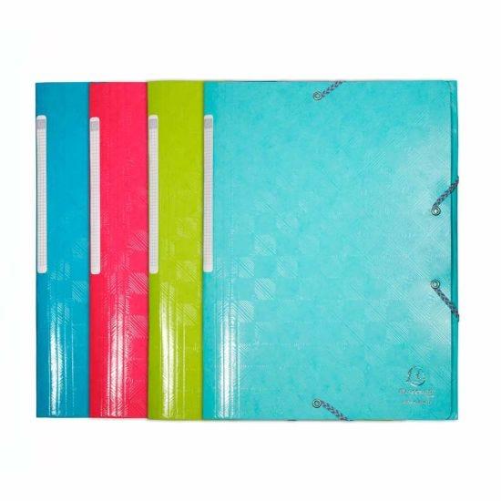 Exacompta 1928 3 Flap Folder A4 Pack of 24 Assorted
