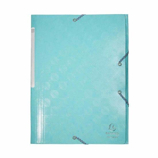Exacompta 1928 Elastic 3 Flap Folder A4 Maxi Pack of 24 Blue