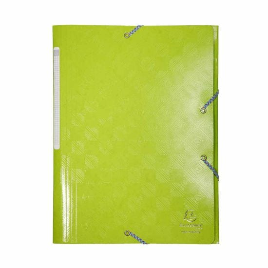 Exacompta 1928 Elastic 3 Flap Folder A4 Maxi Pack of 24 Lime Green
