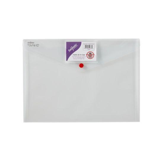 Snopake Polyfile ID Popper Wallet A4 Pack of 5 Black
