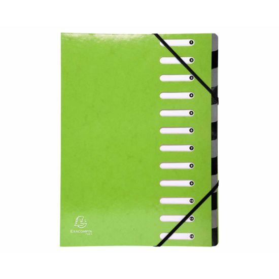 Exacompta Iderama Multi File 12 Part A4 600gsm Pack of 6 Green