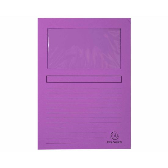 Exacompta Forever Window Folders A4 4 Packs of 100 Purple
