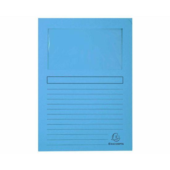 Exacompta Forever Window Folders A4 4 Packs of 100 Light Blue