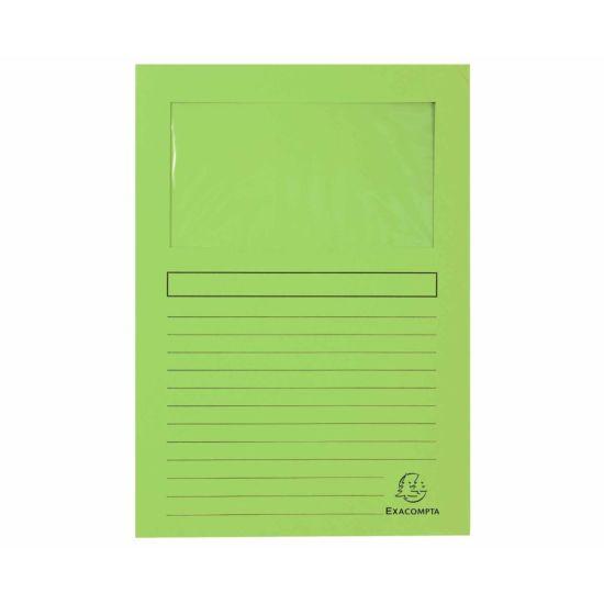 Exacompta Forever Window Folders A4 4 Packs of 100 Light Green