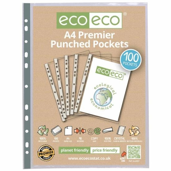 eco eco Premier Punched Pockets A4 Pack of 100