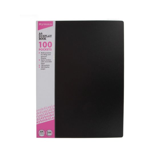 Ryman Easy View Display Book A4 100 Pocket Pack of 6